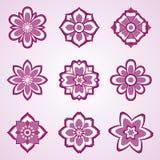 set vektor för abstrakt blomma vektor illustrationer
