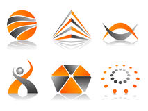 set vektor för abstrakt designsymbolslogo royaltyfri illustrationer