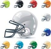 set vektor för amerikansk del för fotbollhalstersymbol Arkivfoto