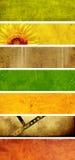 set vektor för banerillustrationpapper Royaltyfri Foto