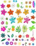 set vektor för blomma Arkivbilder