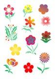 set vektor för blommadiagram Royaltyfria Bilder