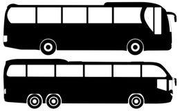 set vektor för buss Royaltyfri Bild