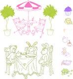set vektor för cafe Royaltyfri Fotografi