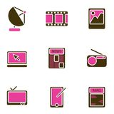 set vektor för elektroniskt symbolsobjekt Royaltyfria Bilder