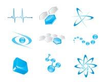 set vektor för elementsymbol Royaltyfria Bilder