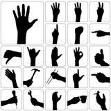 set vektor för hand