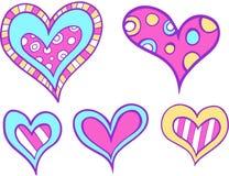 set vektor för hjärta stock illustrationer