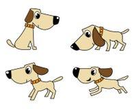 set vektor för hund Fotografering för Bildbyråer