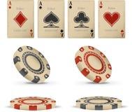 set vektor för kasinoillustrationraster vektor illustrationer