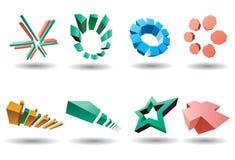 set vektor för logo royaltyfri illustrationer