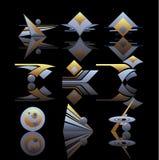 set vektor för logo stock illustrationer