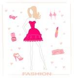 set vektor för mode Royaltyfria Bilder