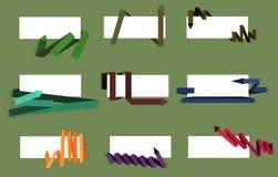 set vektor för pilillustration Arkivbilder