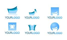 set vektor för redaktörs- finansiell logo Royaltyfri Bild