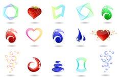 set vektor för symbol Arkivbild