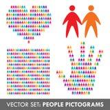 set vektor för symbolsfolk Arkivbild