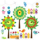 set vektor för trädgård Royaltyfri Bild