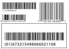 Set vektorbarcodes Stockfotos