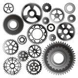set vektorhjul för kugghjul Royaltyfria Bilder
