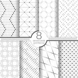Set vektornahtlose Muster Stockfoto