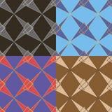 Set vektornahtlose Muster Lizenzfreie Stockbilder