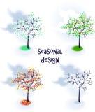 Set vektorsaisonbäume lizenzfreie abbildung