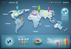 set vektorvärld för infographics Royaltyfri Foto