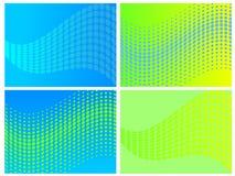 set vektorwave för abstrakt begrepp Royaltyfri Bild