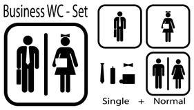 set vektorwc för kontor vektor illustrationer