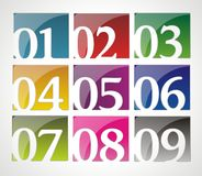 Set vektorzahlen Lizenzfreie Stockfotografie