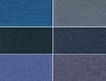 Set velvet textures. Set velvet high resolution textures and backgrounds Royalty Free Stock Image