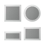 Set of ventilation grilles. Set of exhaust and supply ventilation grilles. Ventilation and air conditioning system. Vector illustration Stock Photos