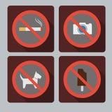 Set Verbotzeichen Lizenzfreie Stockfotografie