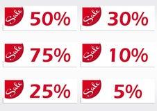 Set Verkaufskennsätze Lizenzfreies Stockfoto