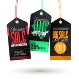 Set Verkaufsmarken Lizenzfreie Stockfotos