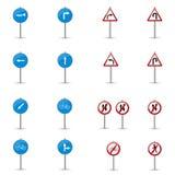 Set Verkehrsschilder stock abbildung