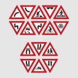 Set Verkehrsschilder Lizenzfreie Stockfotos