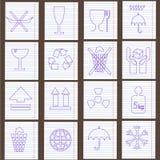 Set Verpackungssymbole Lizenzfreie Stockfotografie