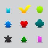 Set verschiedene Farbtabulatoren Stockbilder