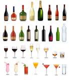 Set verschiedene Getränke und cocktails.vers Lizenzfreies Stockbild