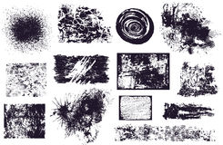 Set verschiedene grunge Elemente   Lizenzfreie Stockbilder