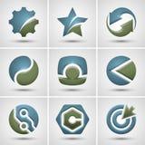 Set verschiedene Ikonen Stockbilder