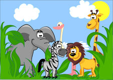Set verschiedene nette Tiere Lizenzfreies Stockbild