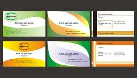 Set verschiedene Visitenkarten Stockfoto