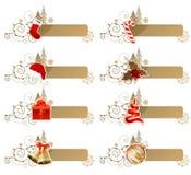 Set verschiedene Weihnachtsfahnen Lizenzfreies Stockfoto