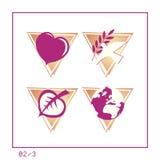 set version för global symbol 02 3 royaltyfri illustrationer