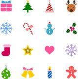 set version för julfärgsymbol Royaltyfria Foton