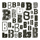 Set versions of letters B Stock Photos