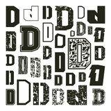Set versions of letters D Stock Photos